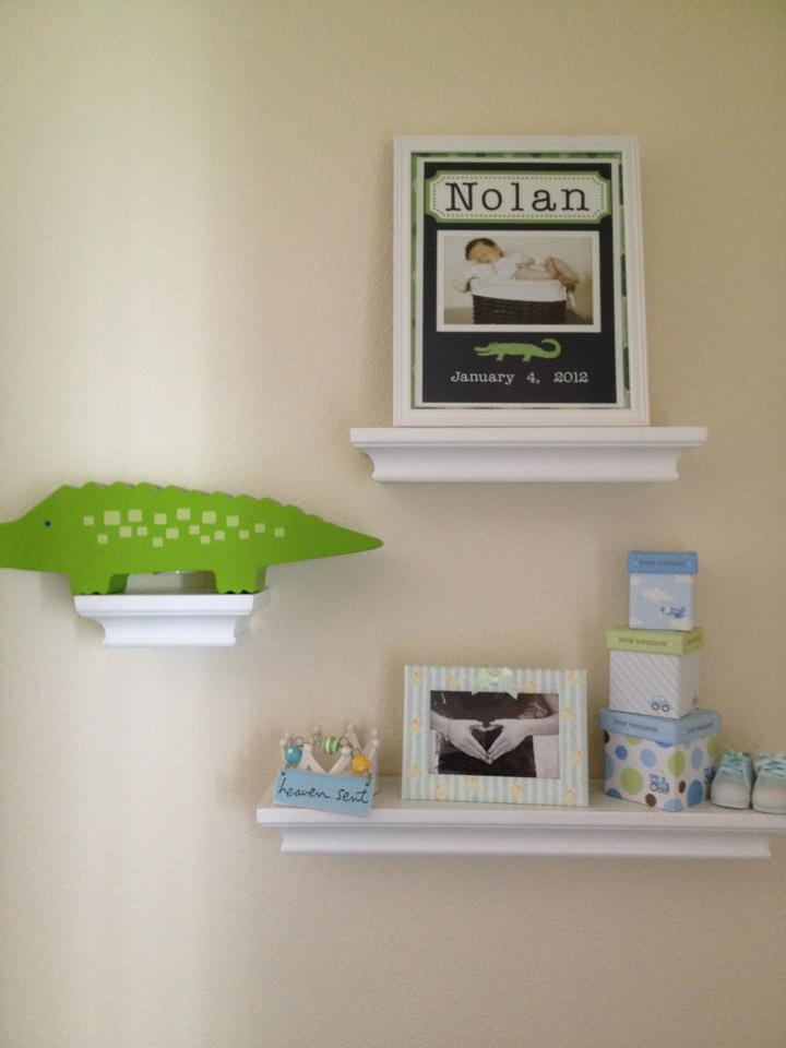 buy shelves for the nursery that can be used as they grow.