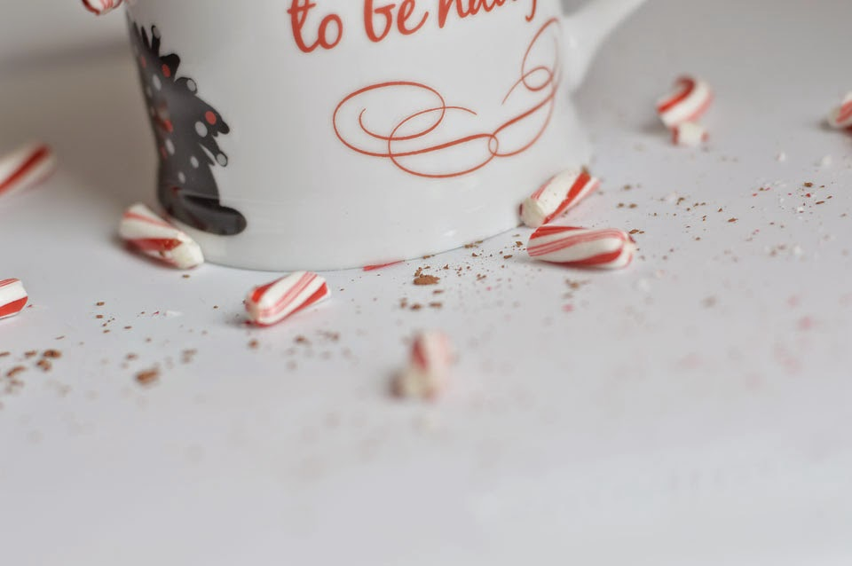 low fat peppermint hot chocolate
