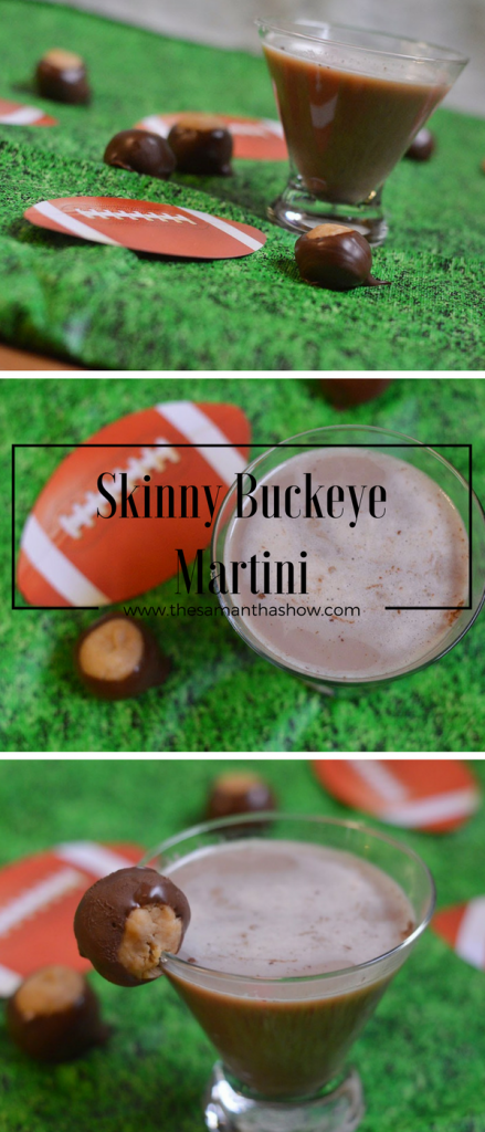 Looking to switch it up for game day? This Skinny Buckeye Martini will have all of your friends wishing they could be as cool as Ohio State fans ;)
