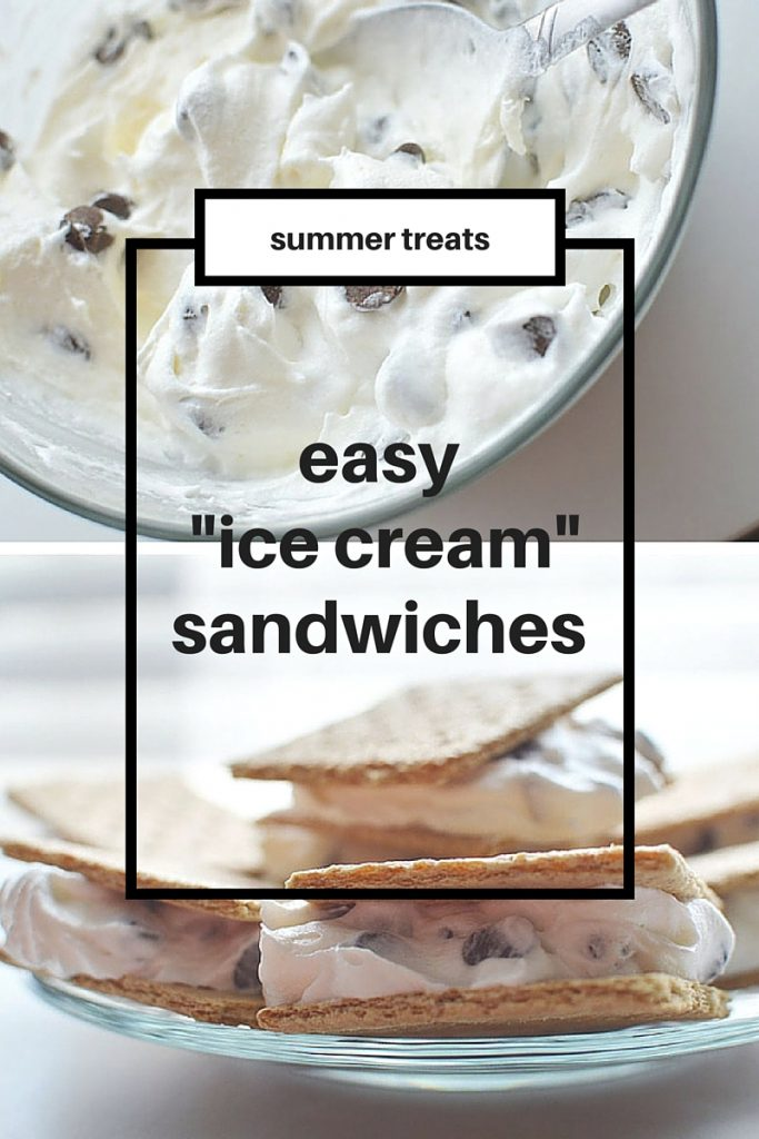 "Looking for an easy summer treat? These light ""ice cream"" sandwiches are healthier than your normal ice cream sandwich and so much better! Only 3 ingredients and the perfect summer dessert!"