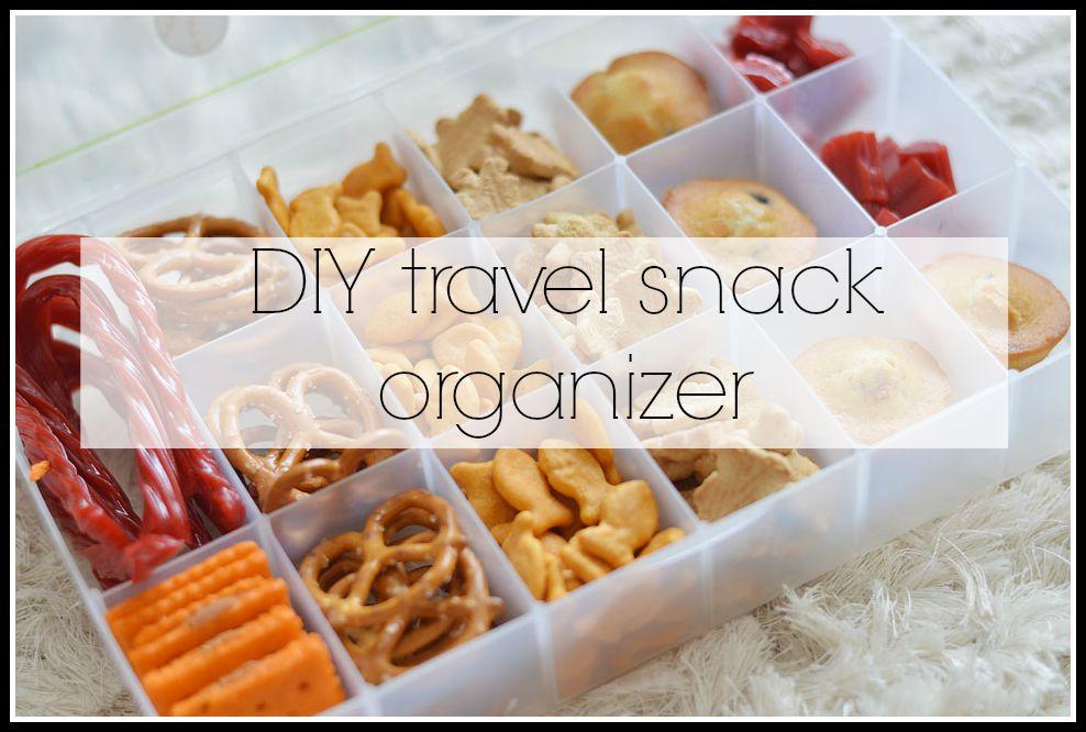 DIY travel snack organizer. - The Samantha Show