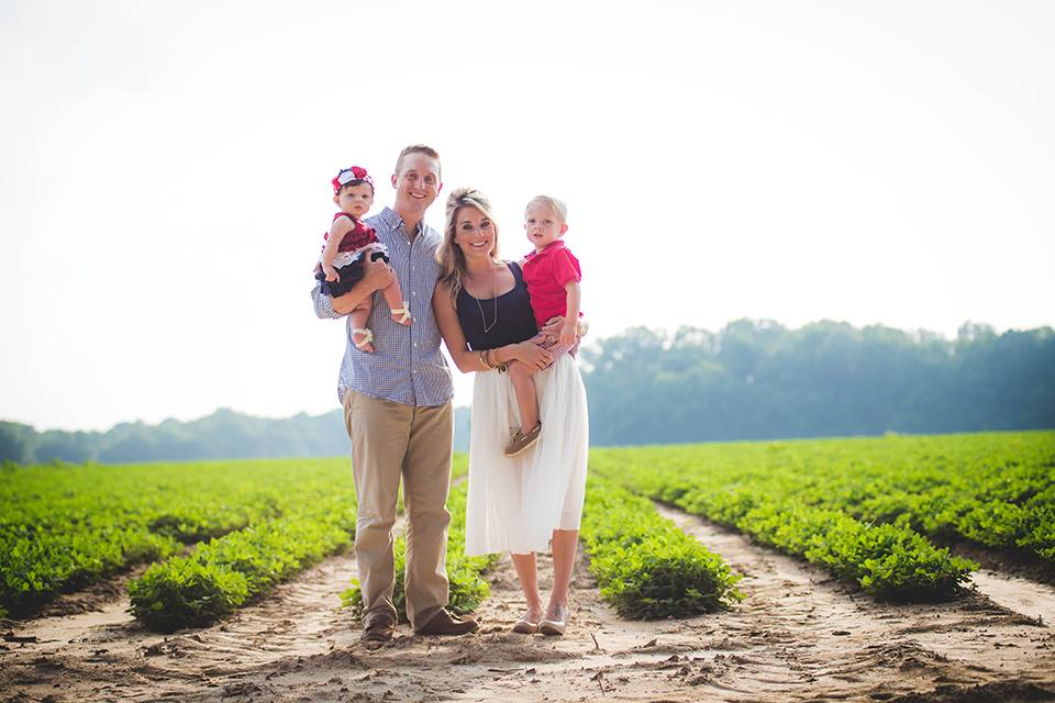 Pictures in peanut field