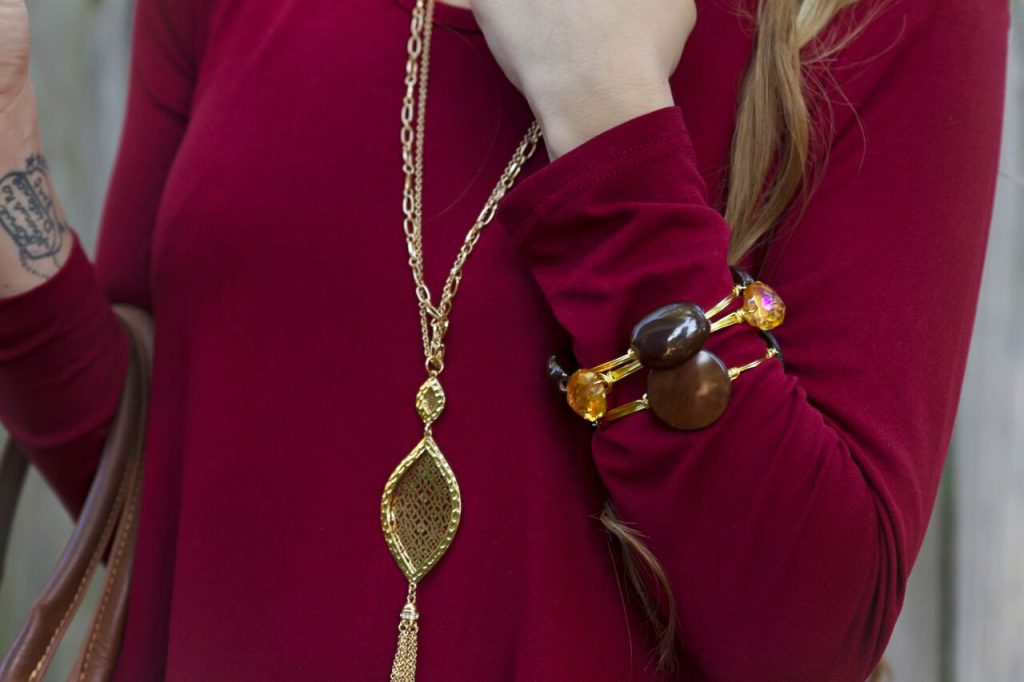 Burgundy tunics are perfect for fall.