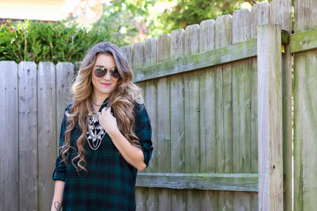 loft plaid tunic 3