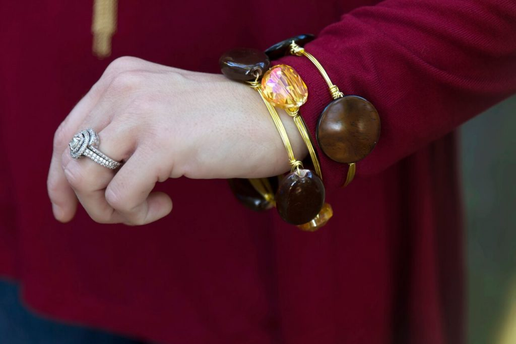 handmade bangles are perfect for fall!