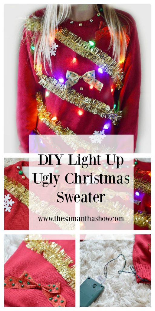Diy Light Up Ugly Christmas Sweater The Samantha Show
