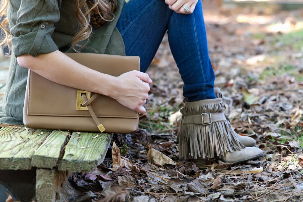 Fringe booties are a must have for fall- The Samantha Show