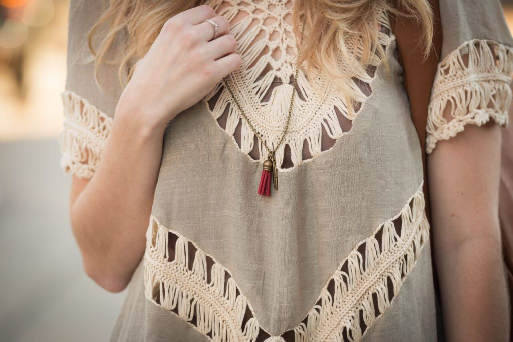 currated carrot tassel infuser necklace