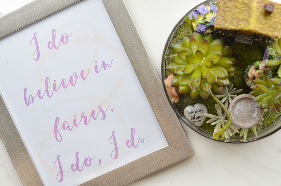 Download a free printable for your fairy garden!