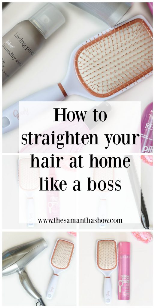 How to straighten your hair at home like a boss