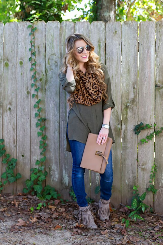 Fall fashion- tunic, jeans, fringe booties... bam. - The Samantha Show