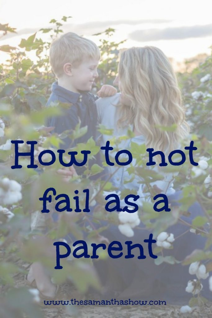 There's no manual on how to parent or to know if you're doing it the right way. Truth is there isn't a right way. But I can tell you how to not fail as a parent... and it may be different than what you think. - The Samantha Show