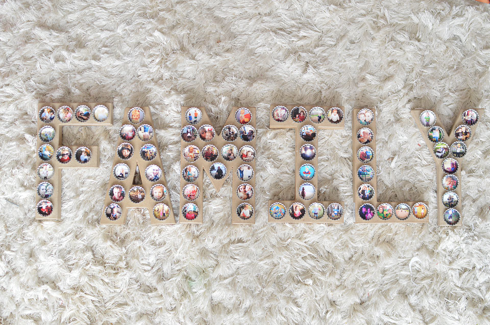 DIY Photo Bottle Cap Letters- The Samantha Show