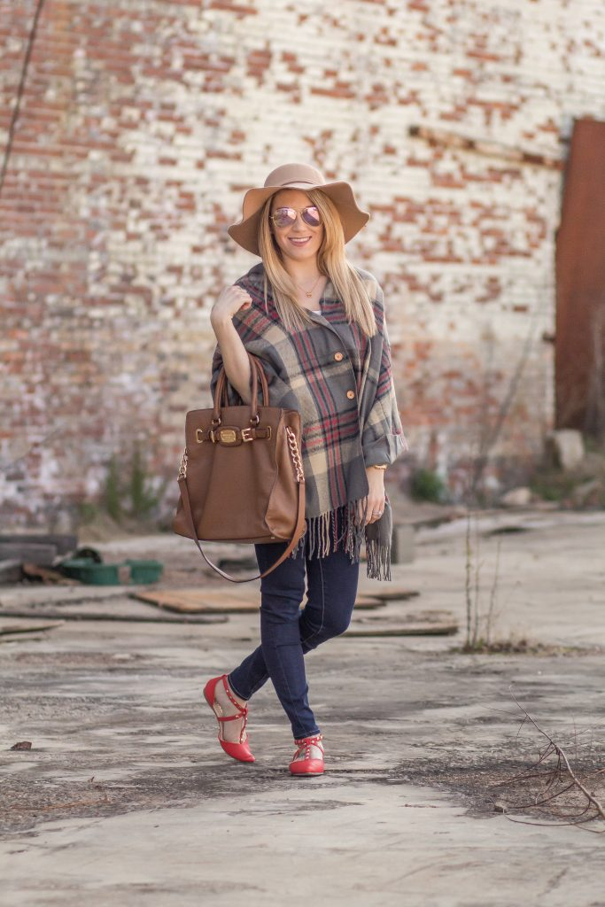 Fall boho chic and poncho love.