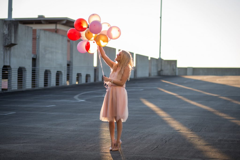 Valentine's Day Photoshoot with balloons