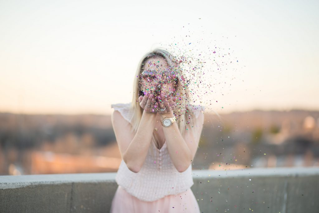 Valentine's Day Photoshoot with confetti