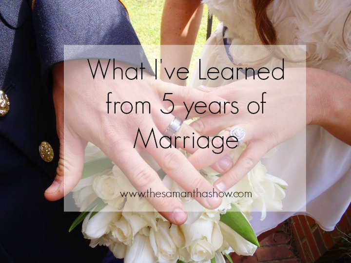 What I've Learned from 5 years of Marriage