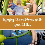 Enjoying the outdoors with your littles.