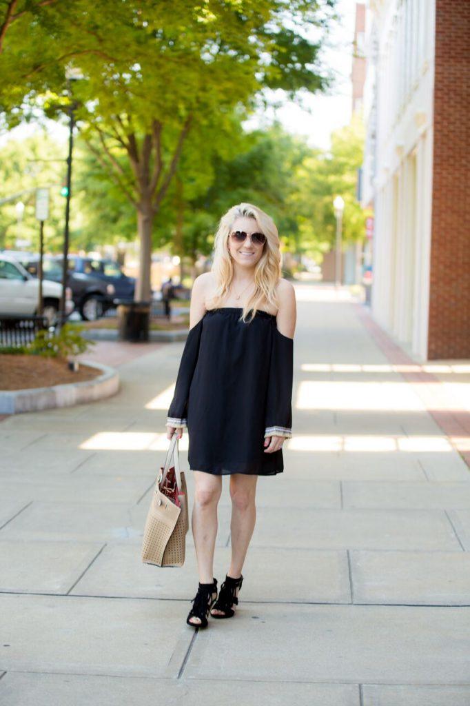 off the shoulder dress for summer