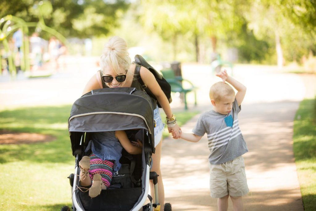enjoying the outdoors with your littles