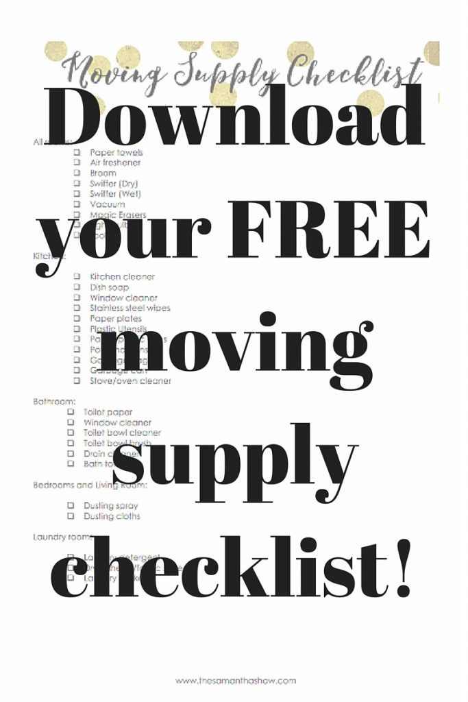 Cleaning tips when moving + FREE supply checklist printable
