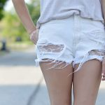 Did your ripped jeans get a little too ripped? Check out these DIY No Sew Lace Shorts! Super easy and quick DIY.