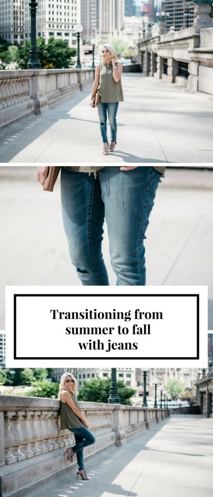 Transitioning from summer to fall with jeans