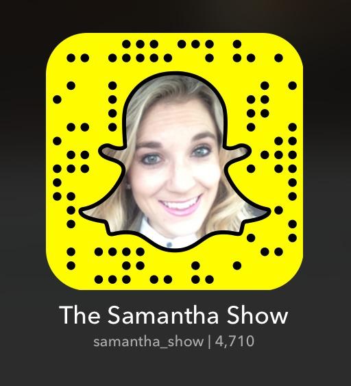 samantha_show_snap_code