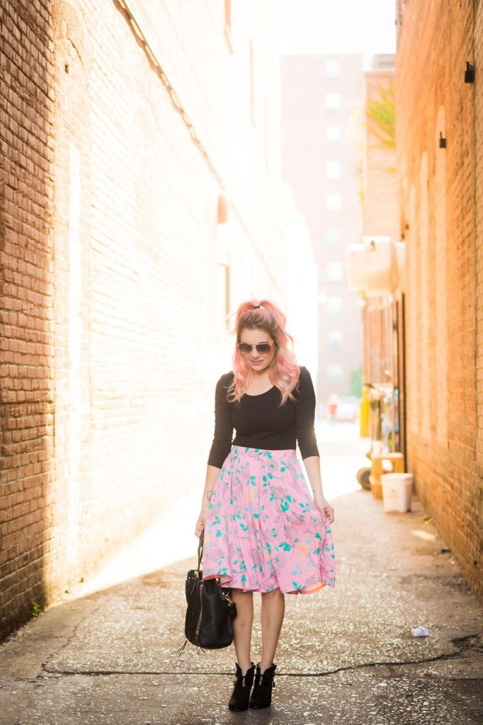 What's up Wednesday; rockin' a LuLaRoe Madison with a body suit and choker for a trendy spin on a classic skirt.
