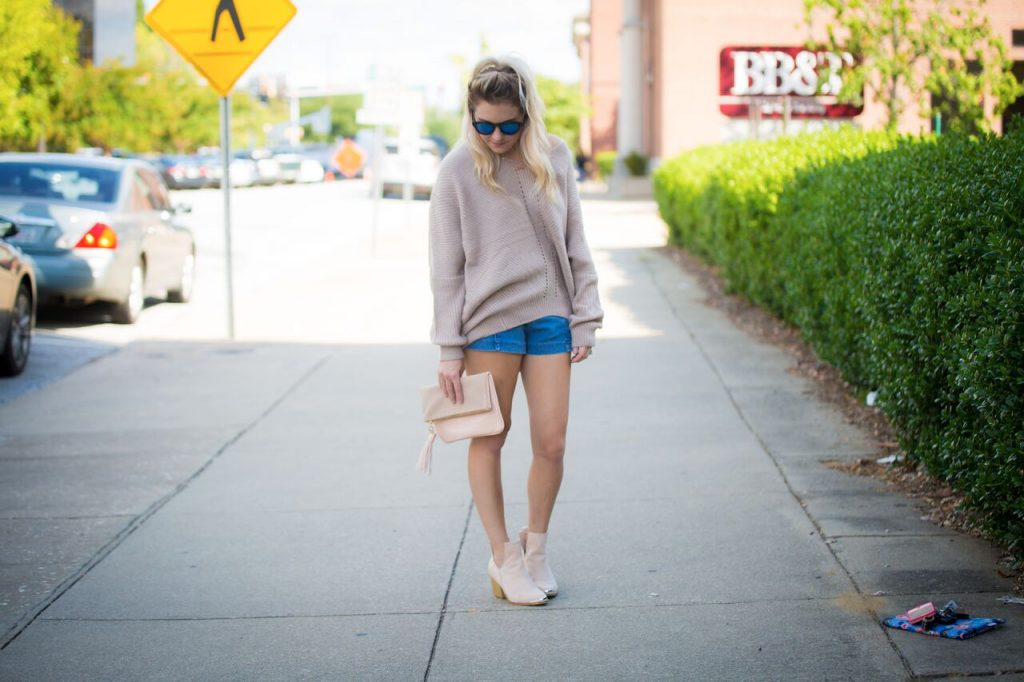 Wearing sweaters and booties together is the ultimate fall combination. Whether you wear them with shorts, leggings, jeans, a skirt, whatever, it screams fall!