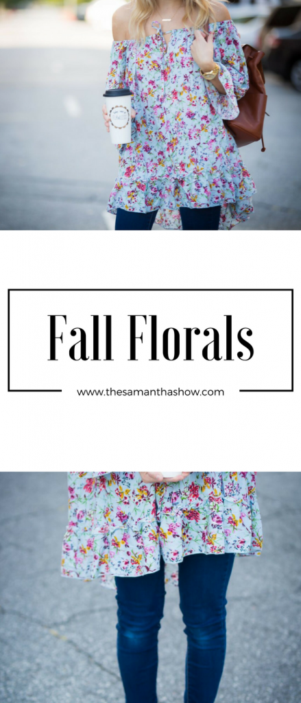 Fall florals are all the rage right now and I'm sharing a few different ways to work them into your fall wardrobe. They're not just for spring anymore!