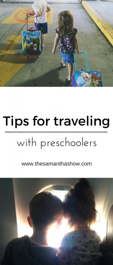 Traveling with kids is hard but sometimes you have no choice, right? So here are a few tips for flying with preschoolers from blogger, The Samantha Show.