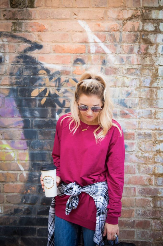 We're all about expressing ourselves and street style, so throw a flannel over a slouchie and you're ready for fall weather. Looking for some fashion steals? This slouchie is HALF OFF with an exclusive code for The Samantha Show readers!