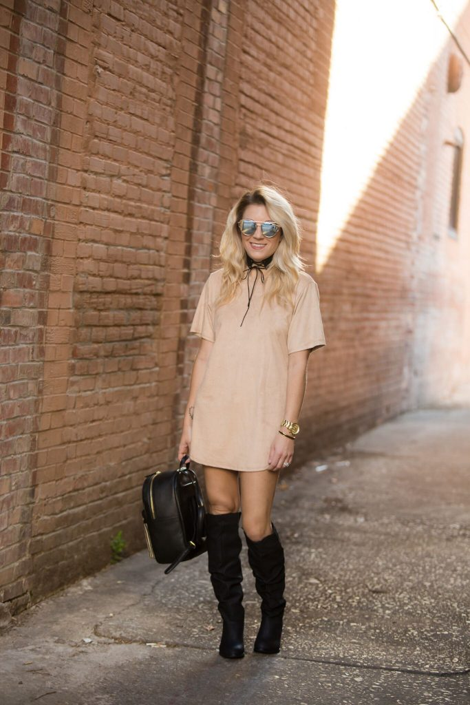 Oversized tees and tall boots are all the rage this season. Order one size up and make your favorite tee a dress! Not confident enough to do that? I've got a secret for you.. click to read more!