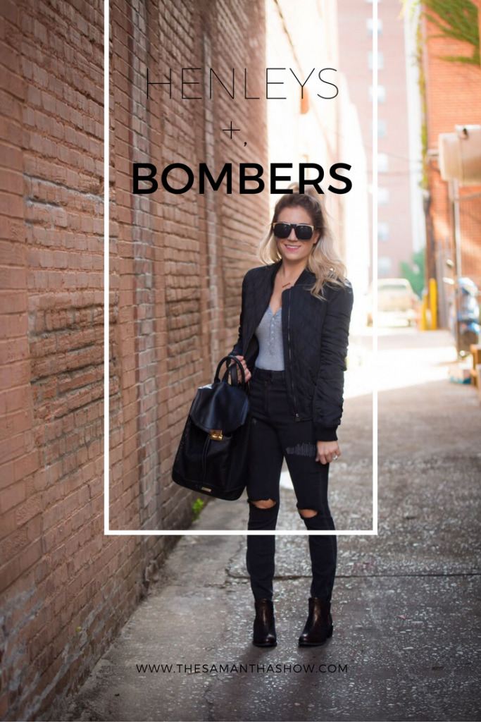 Henleys and bombers are two must haves for fall. Dress them up or mess them down! See how I styled these and check out a few similar favorites.