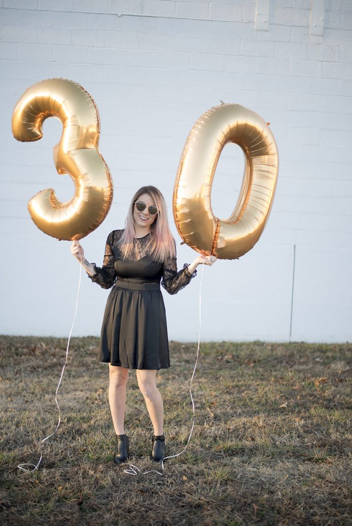 Thirty and flirty and thriving; 30th birthday photo shoot.