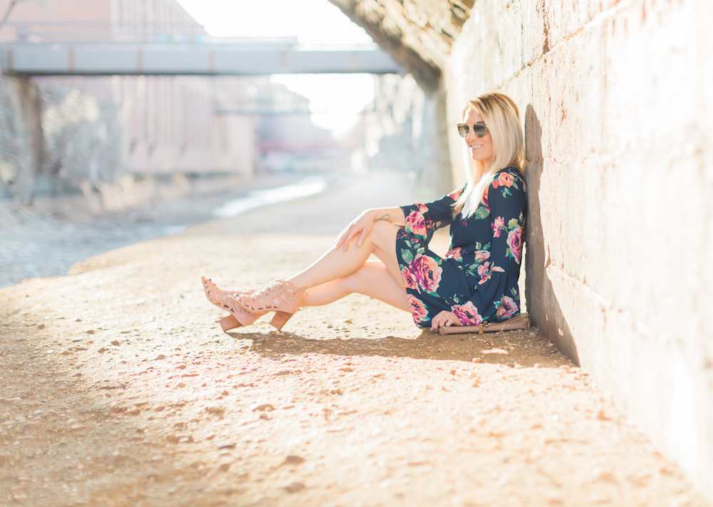 Florals + Blush spring sandals are the perfect combination for the ultimate spring look.