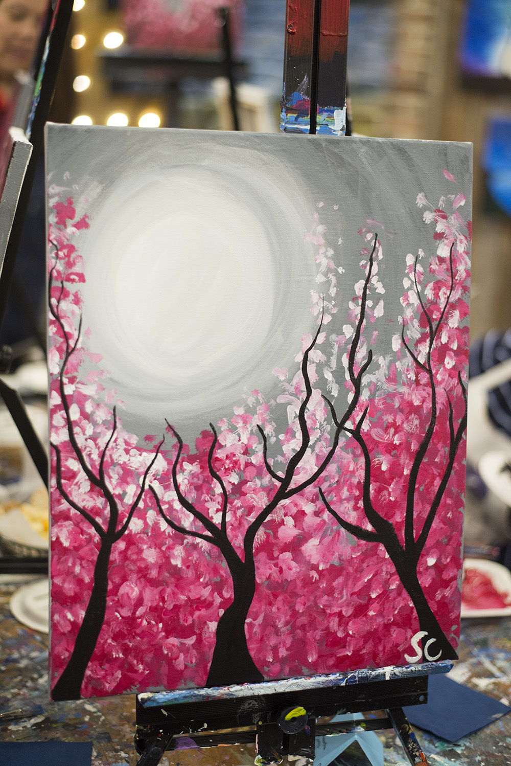 Looking for a fun girls night out activity? Painting and wine are always a good idea right? Book a paint and sip night for you and your girlfriends!