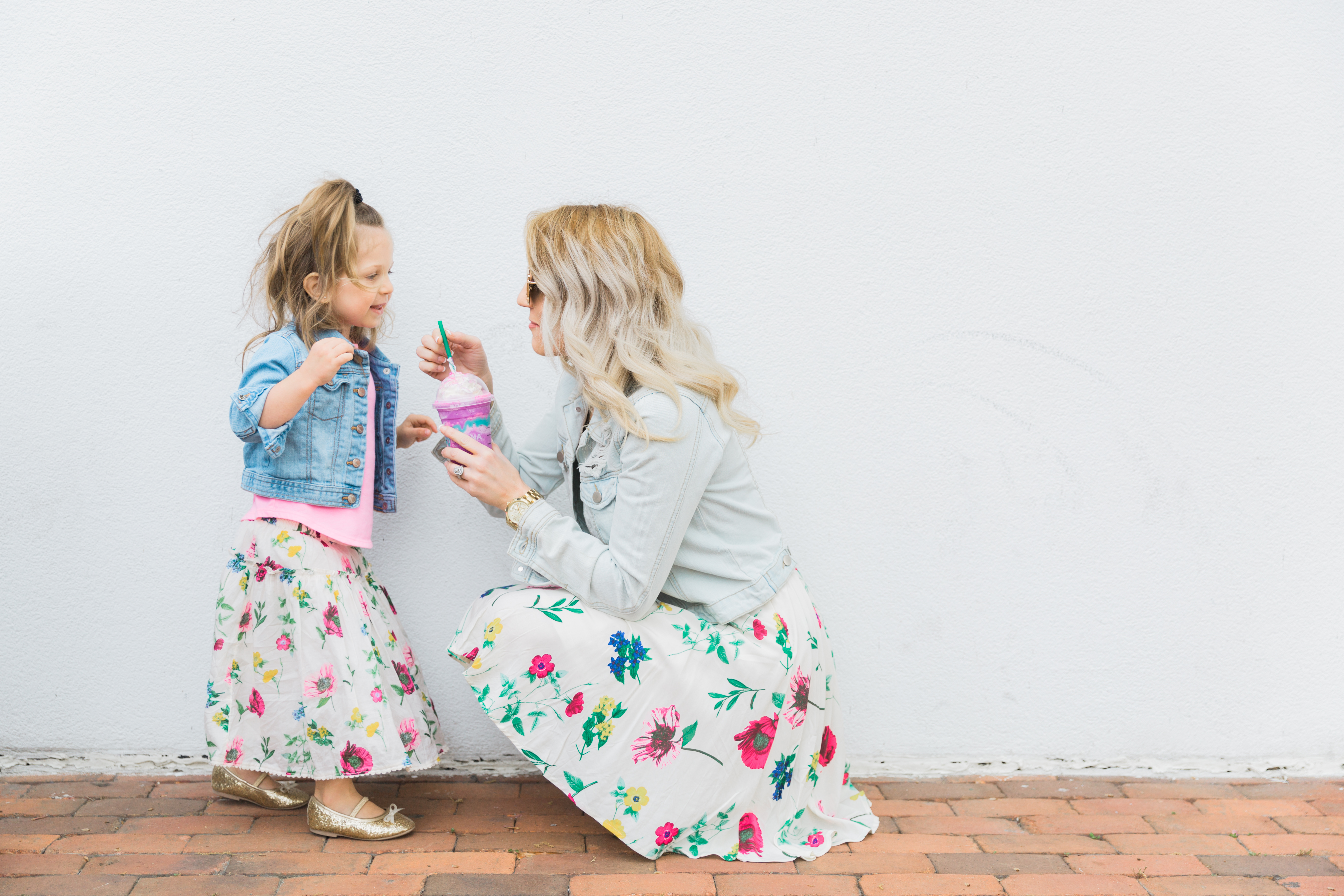Mommy and Me Style featuring coordinating floral outfits from Old Navy. Plus the importance of spending one-on-one time with each kid.