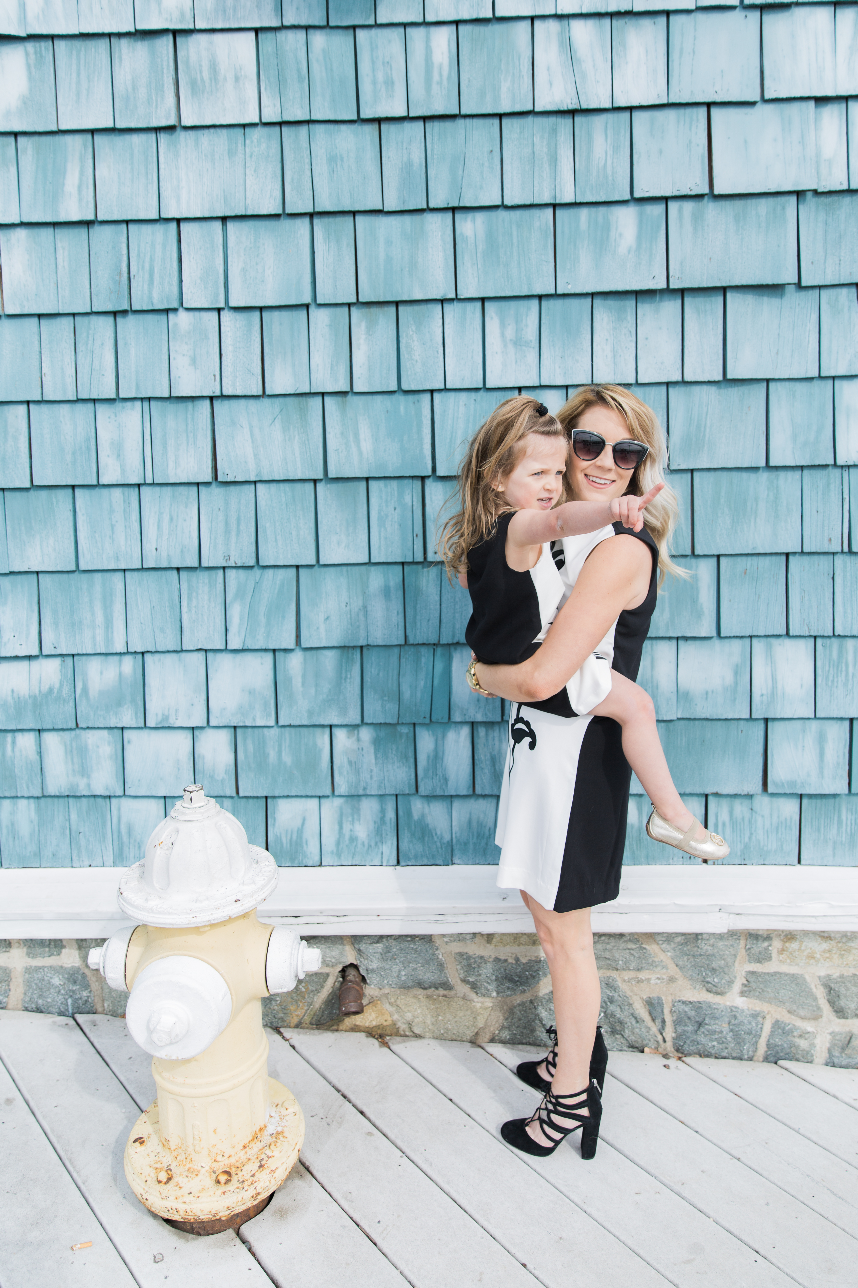 Mommy and me style: black and white matching dress from the Victoria Beckham for Target collection
