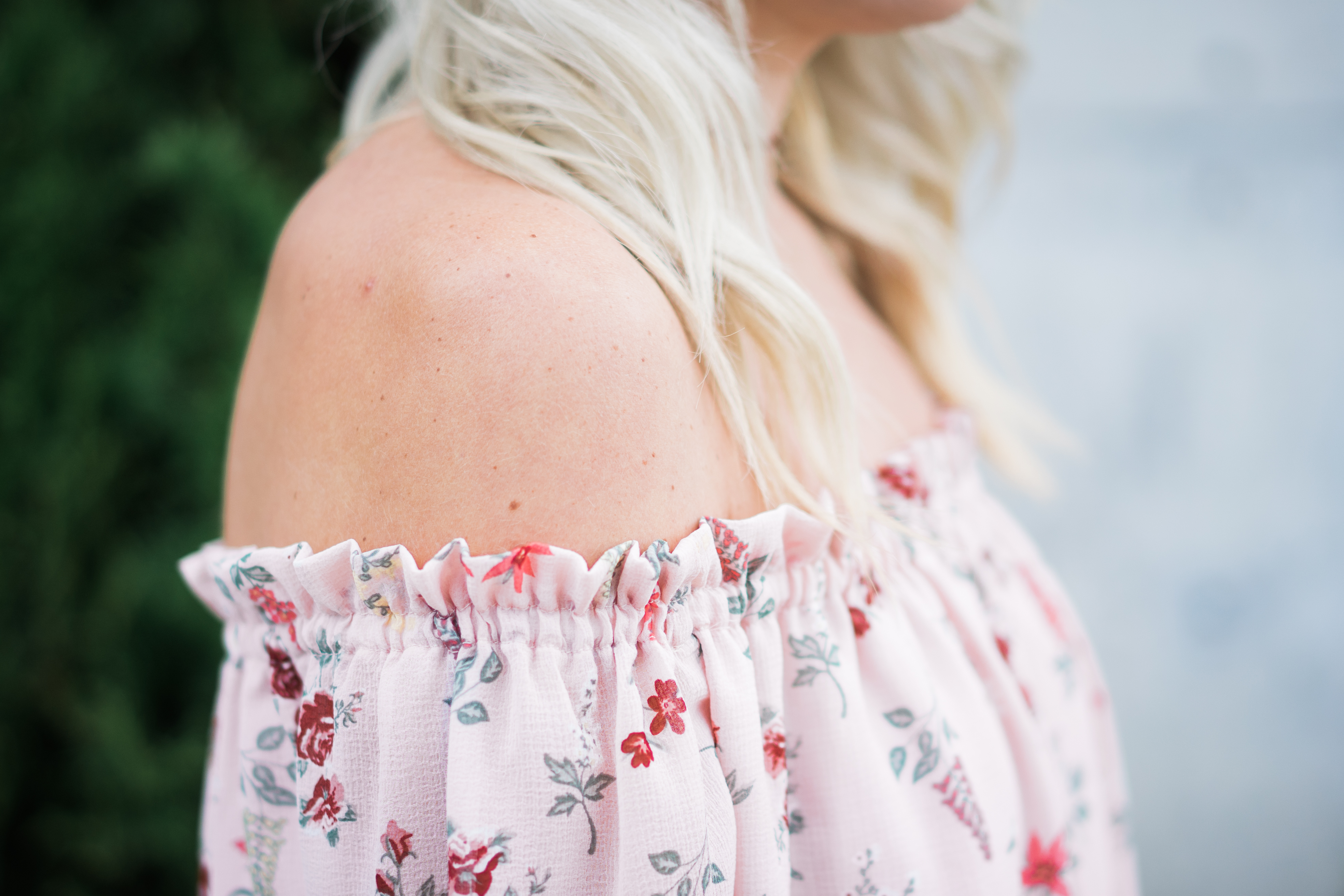 Blush florals are perfect for spring or summer. Feminine, dainty, and perfect for those warm summer days and nights.