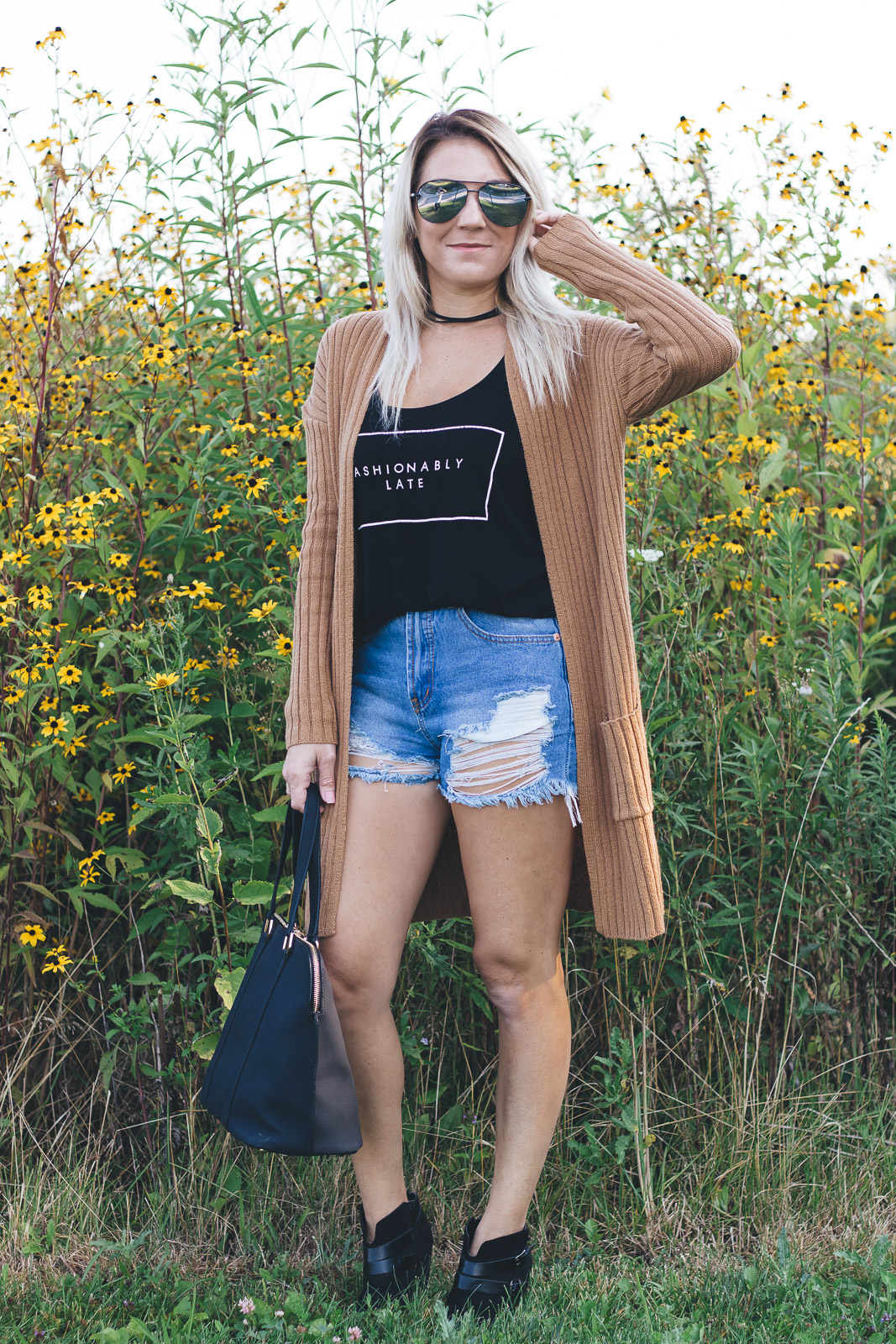 Transitioning from summer to fall with cardigans