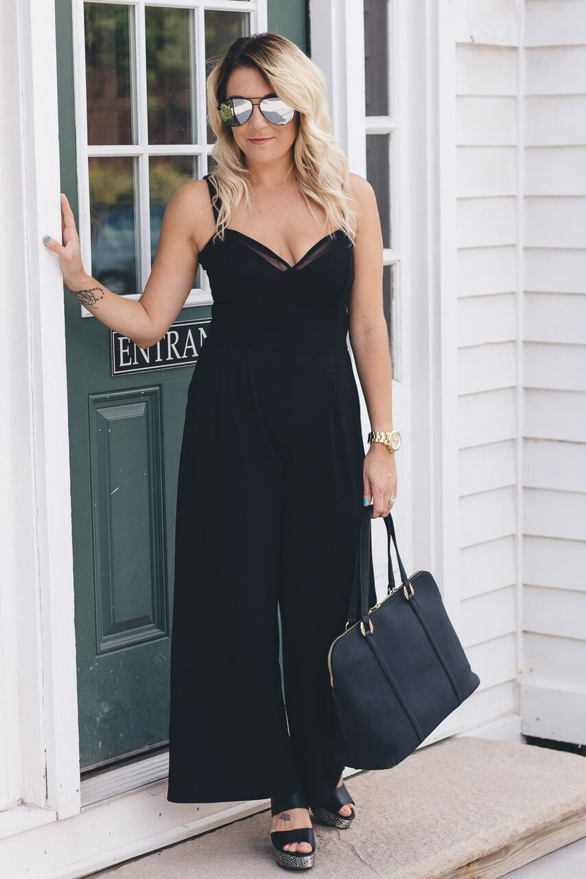 Black is the new black: wearing black from head to toe is timeless, classic, chic, and flattering. Add a hint of neutrals or a pop of color for a dramatic effect!