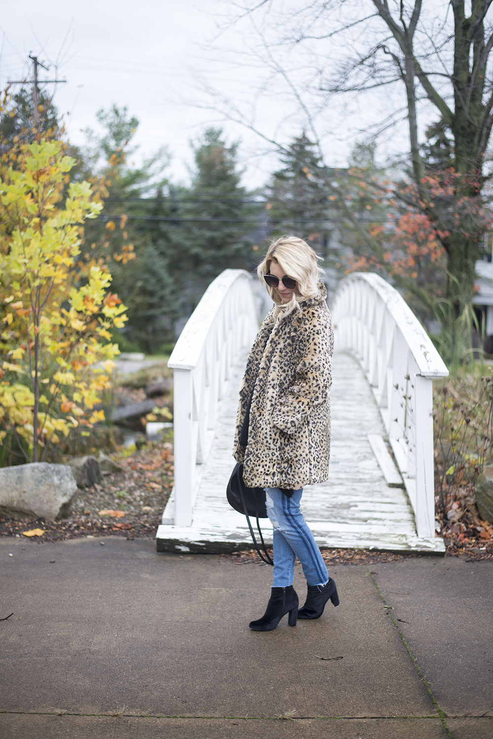Faux Fur Leopard Jacket from Amazon
