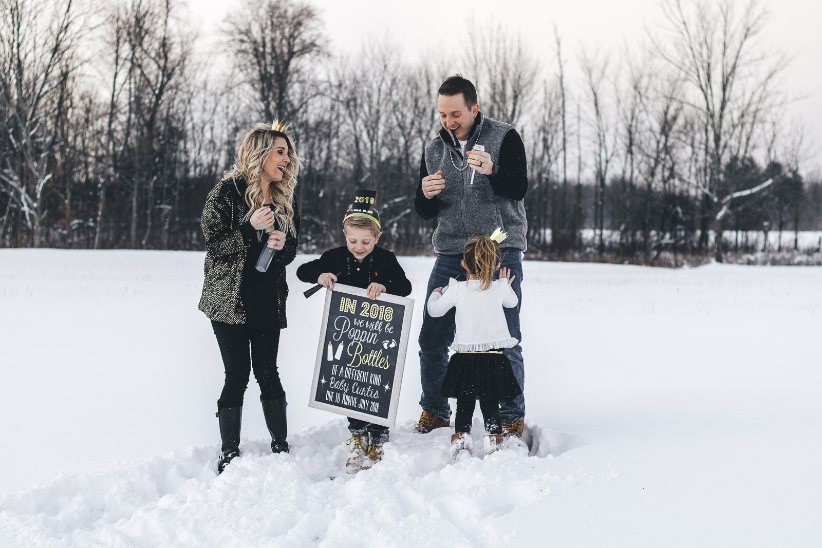 New Year's Eve Pregnancy Announcement