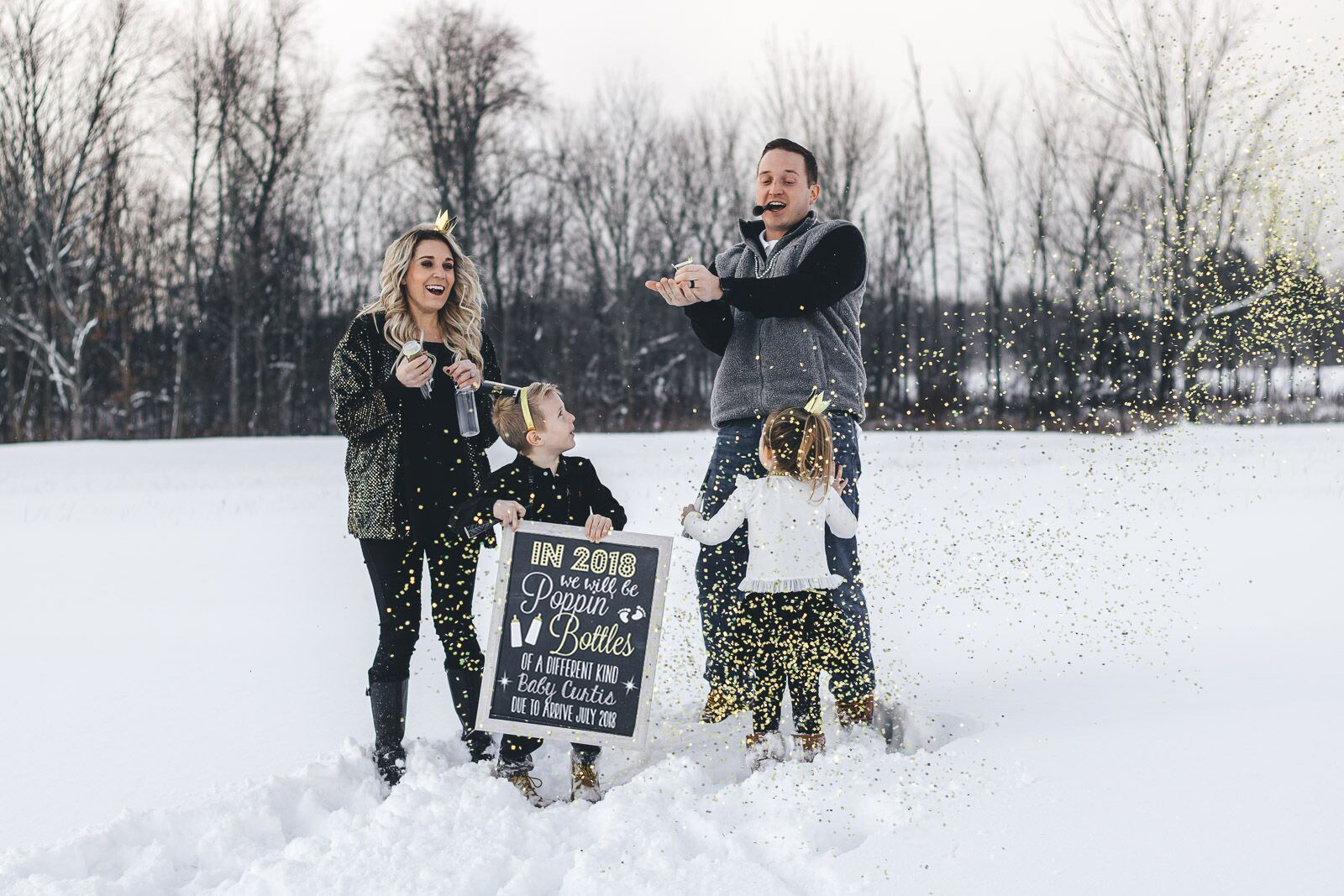 Our New Years Eve announcement and how we found out we were pregnant