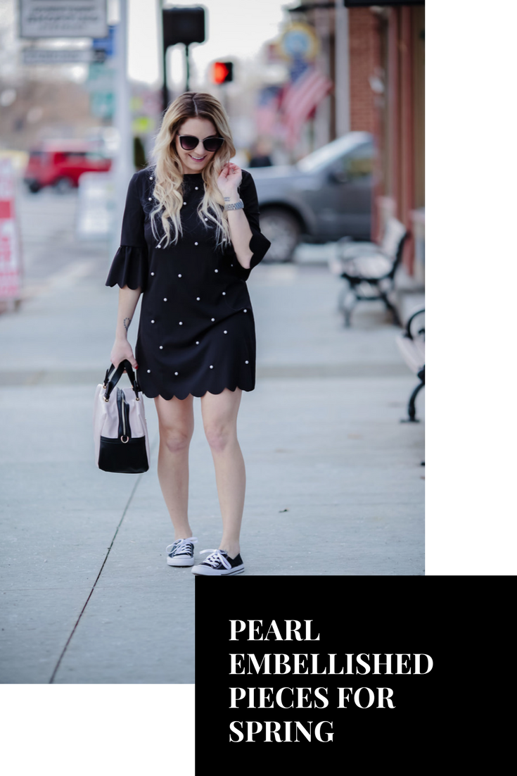 How to style pearl embellished pieces for spring.