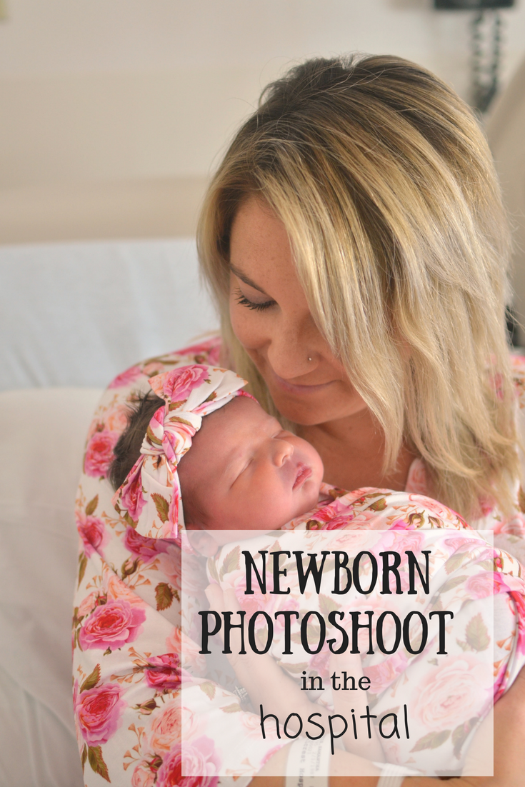 Cleveland blogger The Samantha Show shares her newborn photoshoot in the hospital with Bella Baby Photography