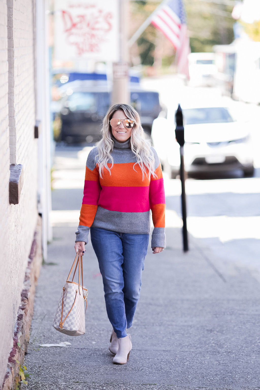 Neon colorblock sweater