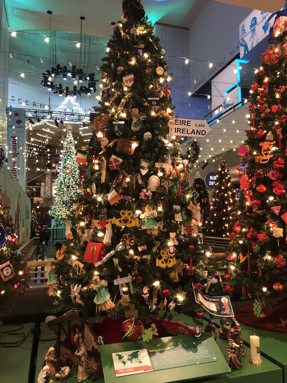 Visiting the Christmas Around the World Exhibit is one of the Best things to do in Chicago during the holidays